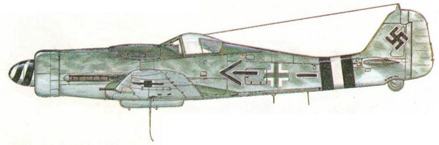 FW190D-9 из JG4 подполковника Герхарда Михаелски, 73 победы. Германия, май 1945 г.