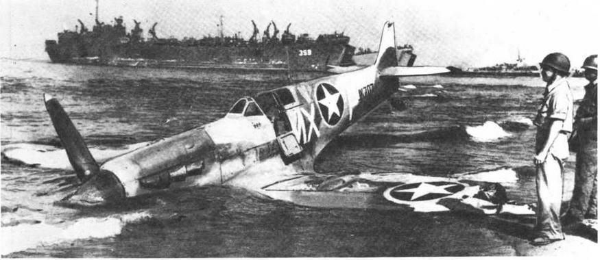 """""""Спитфайр"""" V, сбитый у берегов Сицилии. Одна из многих жертв FW190"""