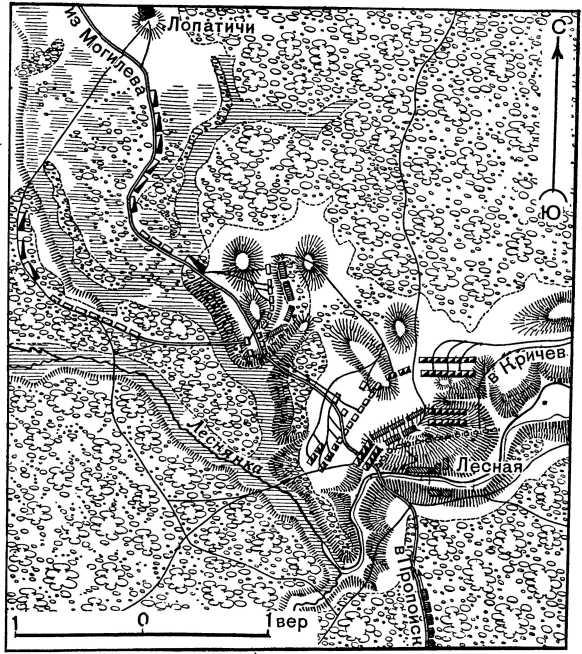 Бой при д. Лесная 28 сентября 1708г
