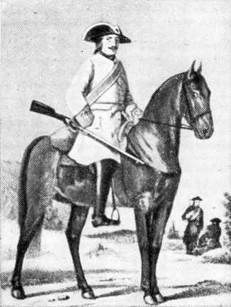 Фузилер драгунского полка (1700–1720гг.)