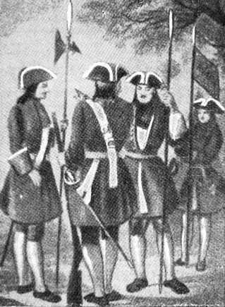 Унтер-офицеры гвардейской пехоты (1700–1720гг.)