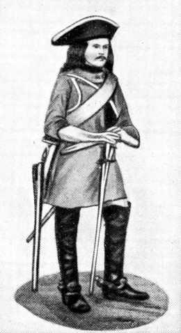 Шведский воин времен Карла XII.