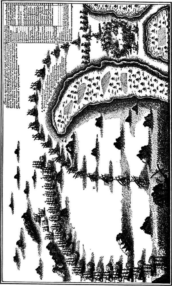 План сражения при Гангуте.