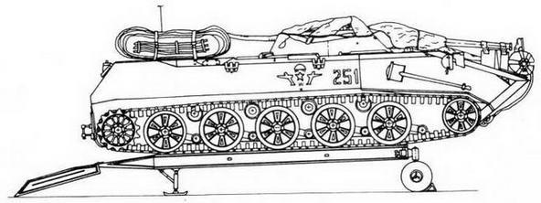 БМД-1 на платформе П-7