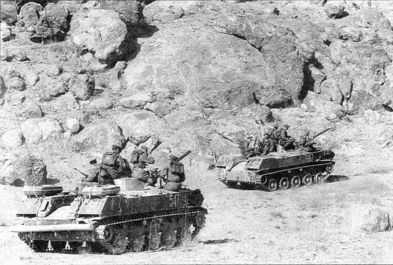 Разведподразделение ВДВ на боевых машинах десанта БМД-1П. Афганистан, 1985 год