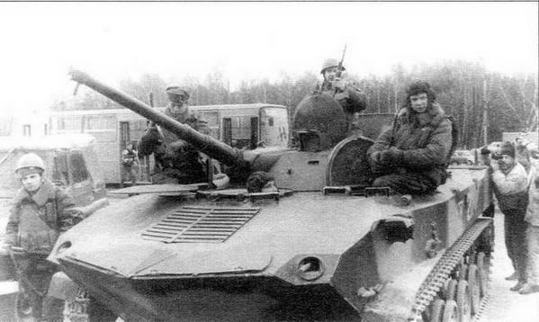 БМД-1П 7-й гвардейской воздушно-десантной дивизии. Вильнюс, январь 1991 года