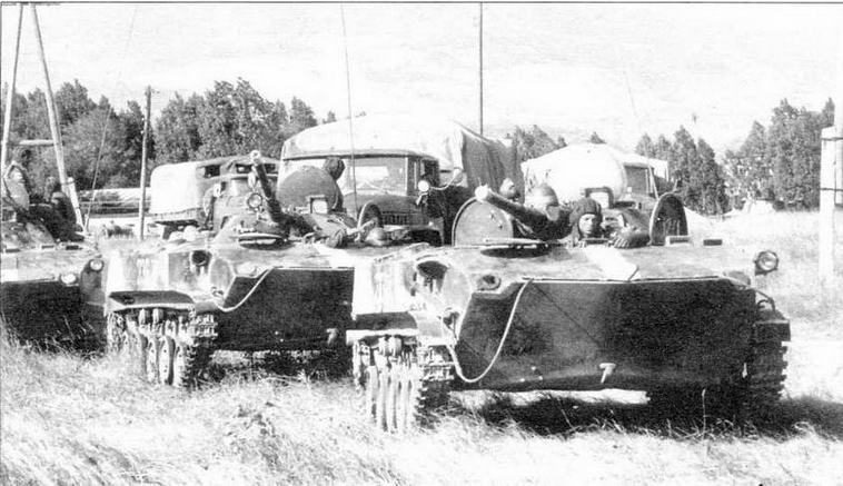 Боевые машины десанта БМД-1П Российских миротворческих сил. Южная Осетия, 1992 год