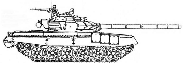 Т-72Б с встроенной динамической защитой
