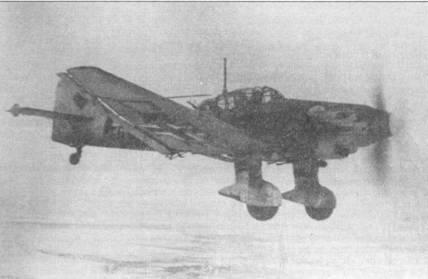 Первой в январе 1942г. получила самолеты Ju-87D-1 группа I/St.G-2. На снимке — Ju-87D-1 из 1-го стаффеля I группы 2-й эскадры «Штук».