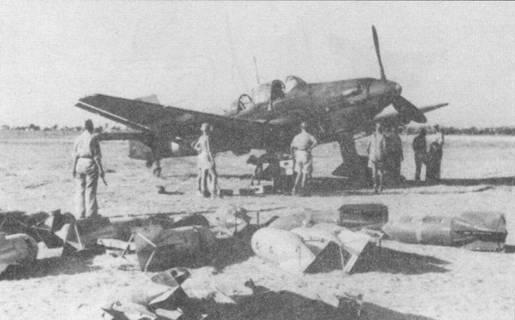 Под вертикальным оперением самолета при детальном анализе фотоснимка можно заметить буксировочный узел, штатный для самолетов модификации «D-2». В то же время отсутствие сирен указывает на то, что на фото скорее всего бомбардировщик Ju-87 D-3 позднего выпуска. С другой стороны, большинство конструкционных узлов «Штук» моделей «D-l», «D-2» и «D-3» были взаимозаменеямы. Таким образом, вопрос о точном типе модификации этой машины остается открытым.