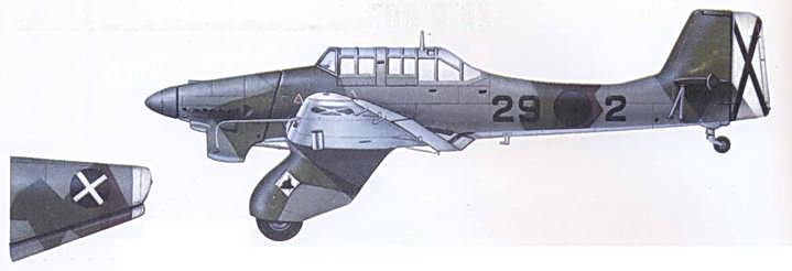 Один из нескольких Ju 87А из St.G. 163, Испания, 1936г.
