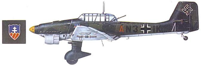Ju 87B-1 из St.G. 2, март 1941г.