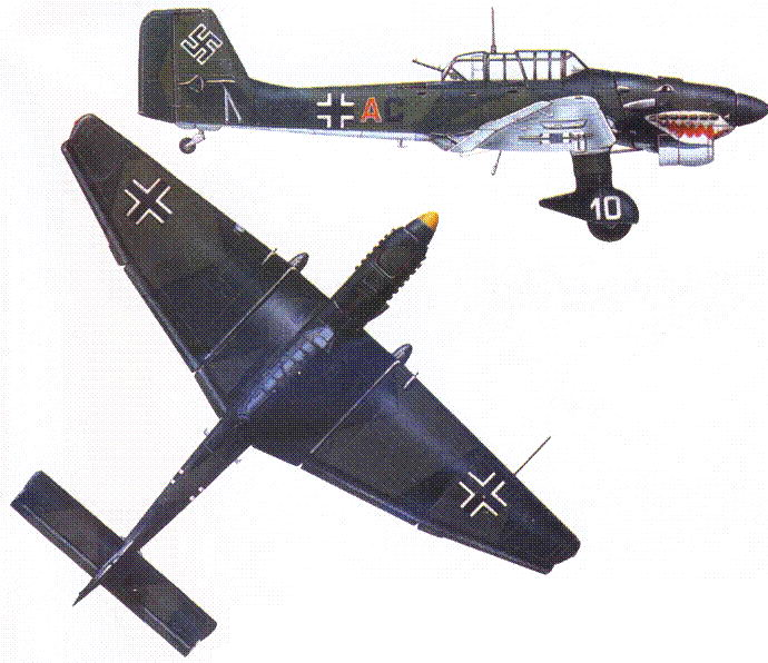 Ju 87В-1 майора А. Ортофера из II./St.G. 77, лето 1940г.