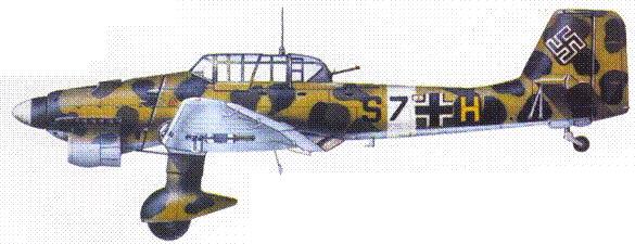 Один из первых прибывших в Северную Африку Ju 87В-2 из St.G. 3.