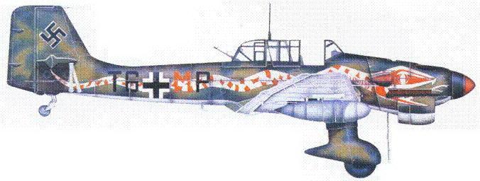 Ju 87 R-2 из 9./StG 2 «Иммельман», аэродром Тмими, Ливия, 1941.