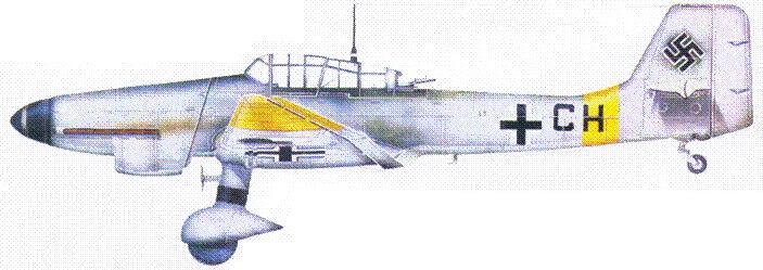 Ju 87 D-5 из 1./LG, Восточный фронт, зима 1943/44.