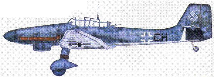 Ju 87 D-8 из l./NSGr 9, Италия, 1944.