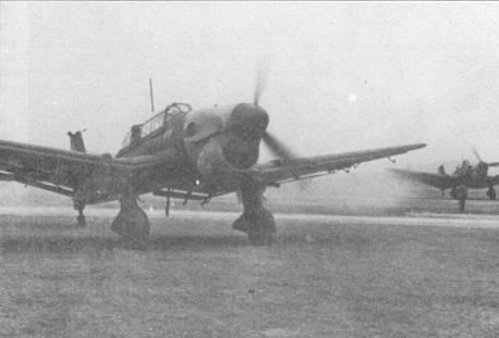 Пикирующие бомбардировщики Ju-87B-1 из ll.ISt.G-77 вернулись из боевого вылета. В ходе операции «Марита» — кампании в Греции и Югославии — «Штуки» восстановили свою репутацию, пошатнувшуюся после не очень удачных действий в период битвы за Англию. Согласно опубликованному в Германии в годы второй мировой войны изданию «Wir Kampften auf dem Balkan» потери в Stukageschwader на Балканах составили 42 человека убитыми и пропавшими без вести — меньше, чем в любых других бомбардировочных подразделениях люфтваффе.