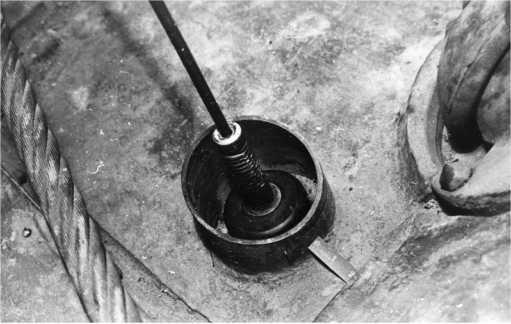 Бронировка антенного ввода на КВ-1 выпуска августа 1942 года. Фото из американского отчета об испытании КВ-1 (РГАЭ).