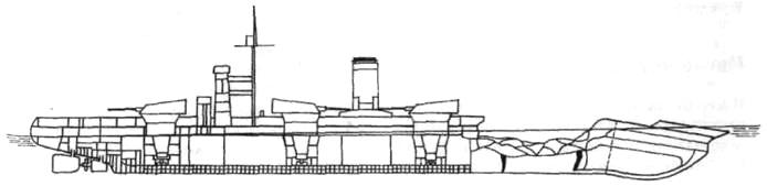 Схема повреждений линкора «Марат»