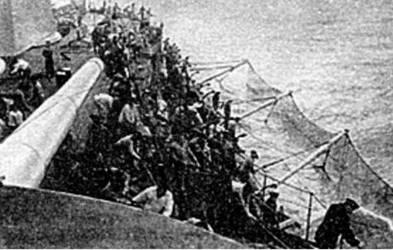 Во время установки противоторпедных сетей