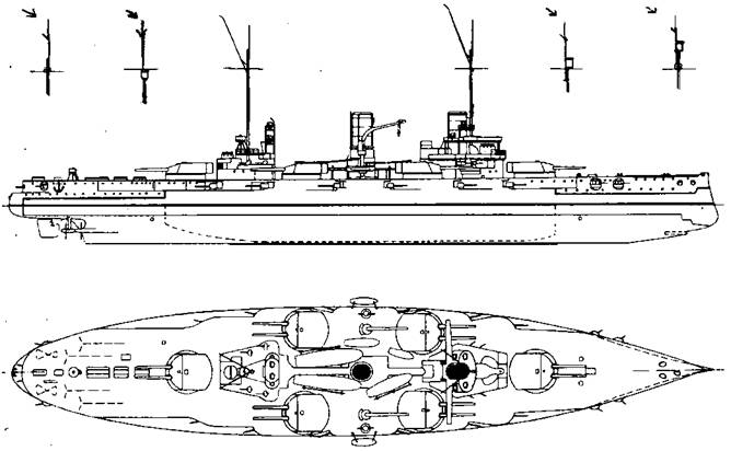 """Линейный корабль """"Нассау"""". 1909 г."""