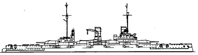 """Линейный корабль """"Вестфален"""". 1918 г. (Наружный вид)"""
