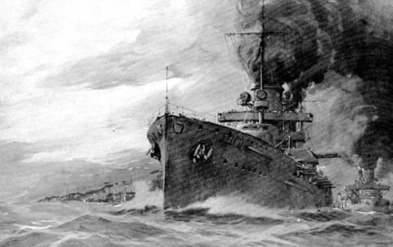 1912 г. Смотр флота кайзером Вильгельмом II