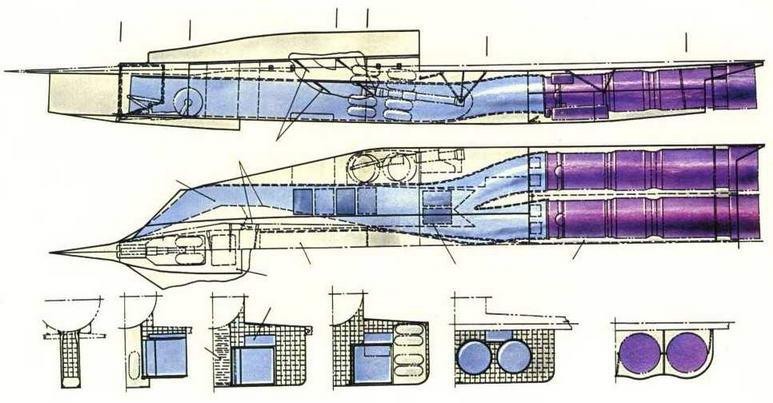 Схема сечений мотогондолы. (Николай Гордюков)