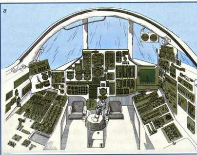 "Кабина второго <a href='https://med-tutorial.ru/m-lib/b/book/3239510375/19' target='_blank' rel='external'>экспериментального</a> самолета Т-4 - ""102"": а - кабина летчика"