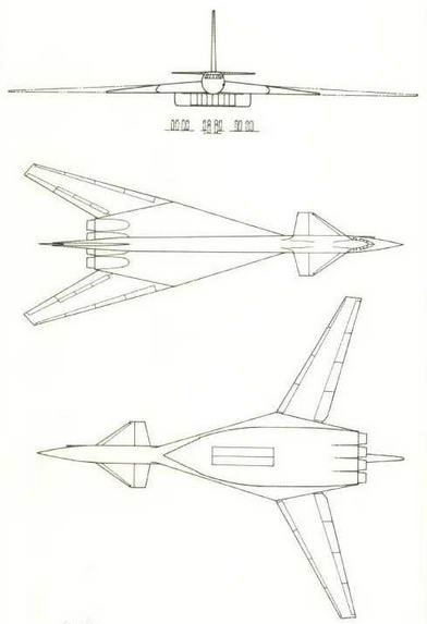 Три проекции самолета Т-4М. (Николай Гордюков)