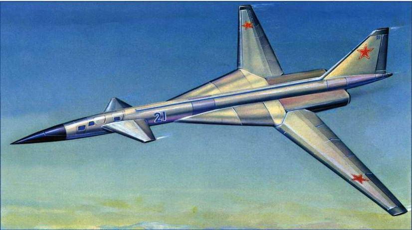 Рисунок варианта компоновки самолета Т-4М №27 (№18 по схеме на стр. 121), представленный в аванпроекте 1970 г. (Михаил Дмитриев)