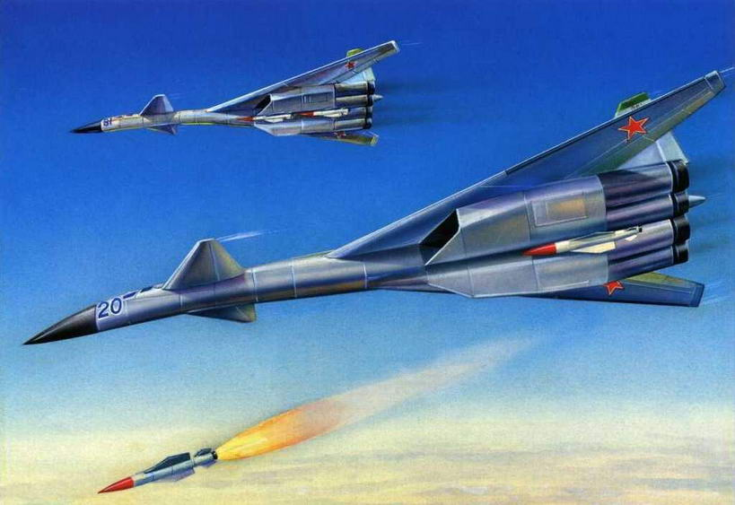 Рисунок варианта компоновки самолета Т~4М № 29 (№ 24 по схеме на стр 121). (Михаил Дмитриев)