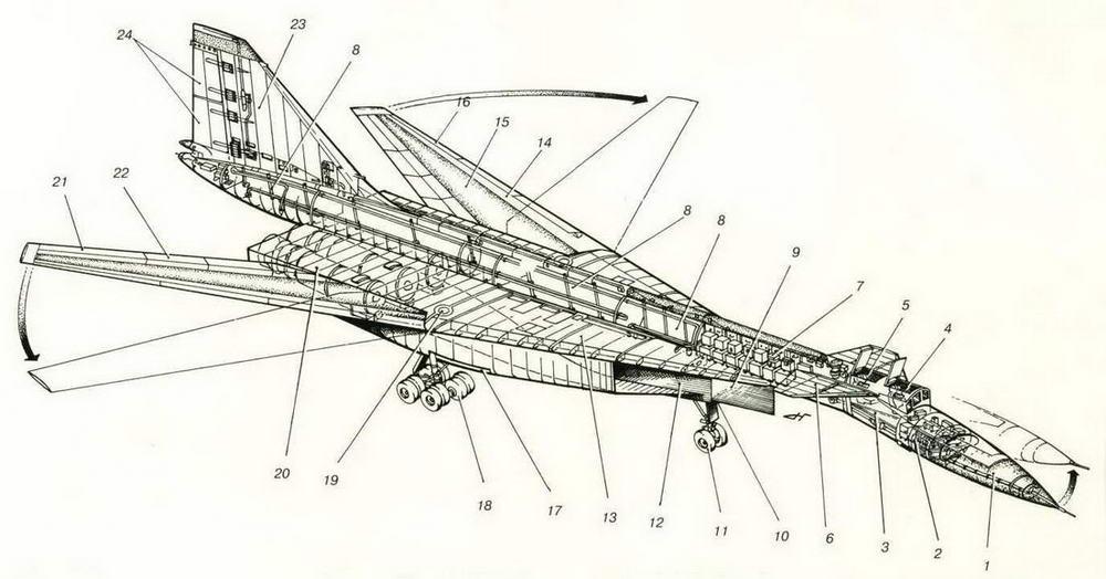 Компоновочная схема самолета Т-4М. (Николай Гордюков)