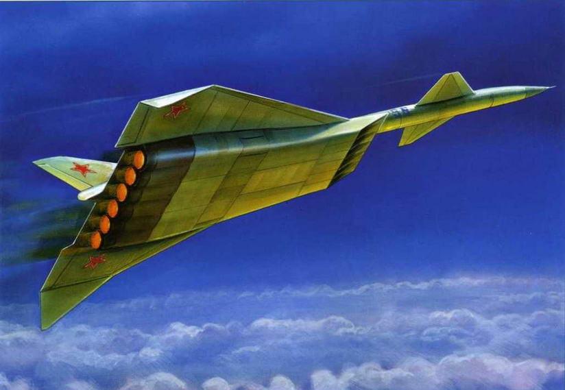 Рисунок самолета М-56 конструкторского бюро В.М. Мясищева. (Андрей Жирнов)
