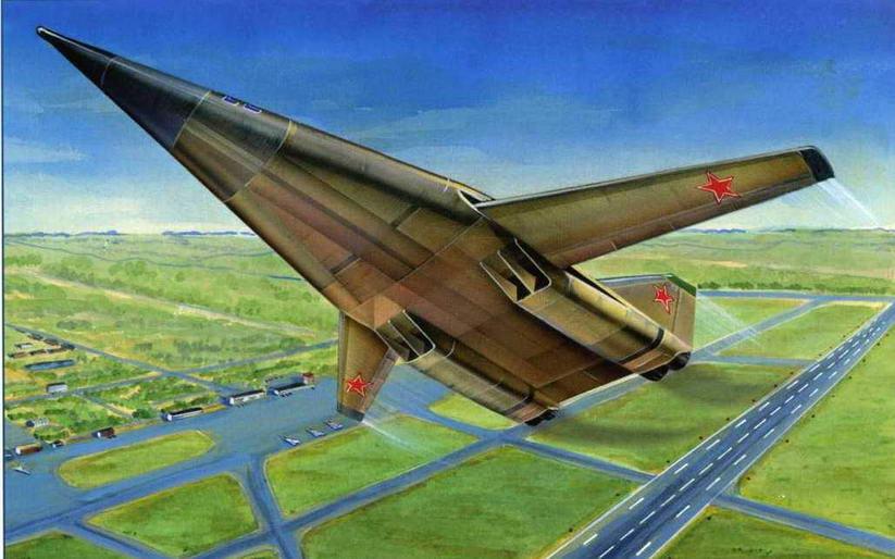 Рисунок варианта компоновки самолета Т-4МС (№6 (аванпроект) по схеме на стр. 136 ). (Михаил Дмитриев)