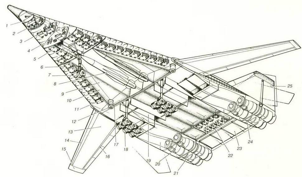 Компоновочная схема самолета Т-4МС ( Николай Гордюков)
