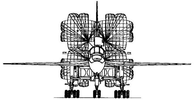 Самолет Т-4 (изд. 102) Вид спереди на земле