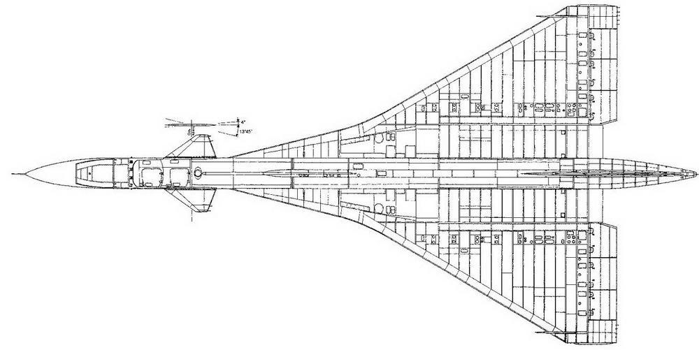 Самолет Т-4 (изд. 102) Вид сверху