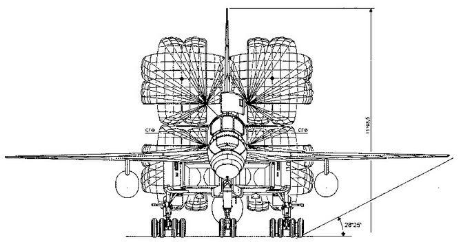 Самолет Т-4 (изд. 101) Вид спереди на земле