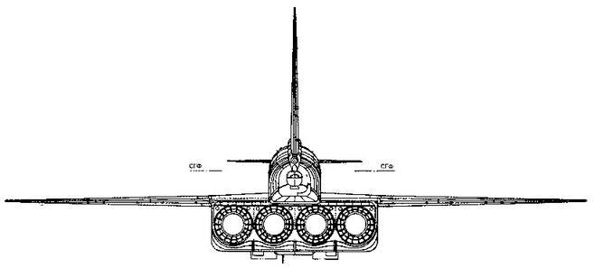 Самолет Т-4 (изд. 101) Вид сзади