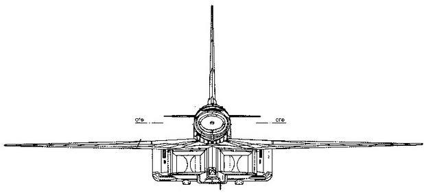 Самолет Т-4 (изд. 101) Вид спереди в полете