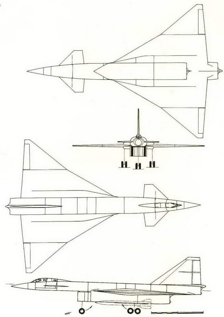 ТТХ ударно-разведывательного самолета по эскизному проекту 1964 г.