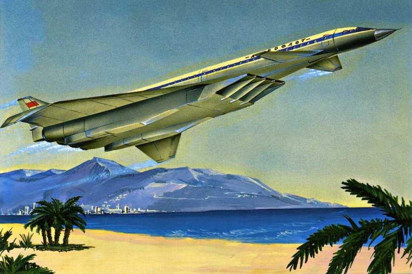 Рисунок пассажирского самолета на базе Т-4 (№2 по схеме на стр. 18 ). (Николай Гордюков)