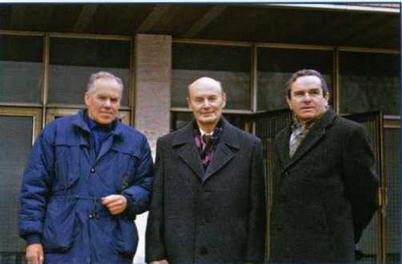 Специалисты ОКБ П. О. Сухого по двигательной установке. Слева направо: К.Н. Матвеев, И.М. Закс, Л.И.Заславский. (Ильдар Бедретдинов)
