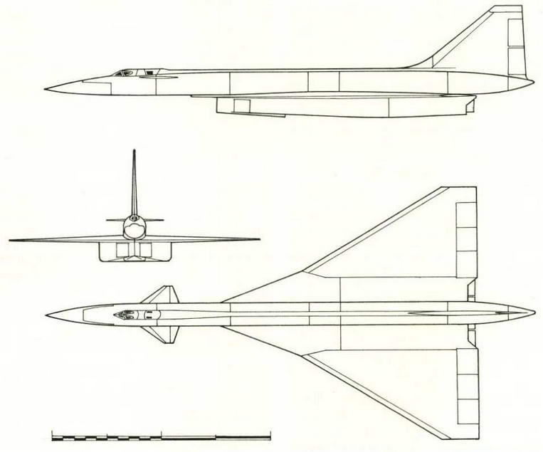 Проекции эскизного проекта самолета Т-4 (№46 по схеме на стр. 21). ( Николай Гордюков)