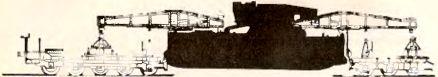 Рис.49. Железнодорожный транспортер для перевозки мортир «Karl» (черным выделен корпус мортиры).