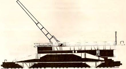Рис.50. 800-мм железнодорожная артустановка Dora К (Е).