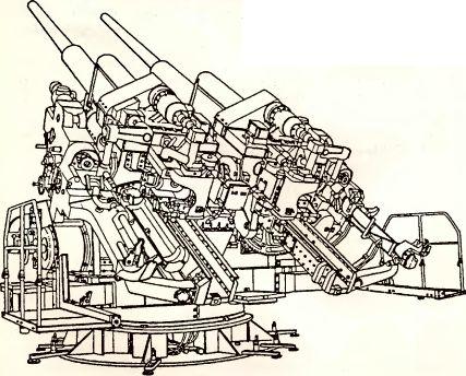 Рис.52. Спаренная 128-мм зенитная пушка Flak 42Z.