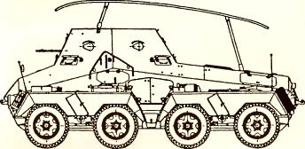 Рис.67. Радиомашина Sd Kfz 263 (8-Rad).